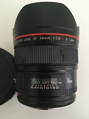 Canon 14mm lens 1:2.8 L II USM Used - great condition! Wide angle ultrasonic