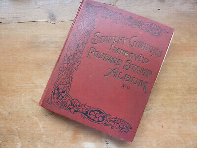 Worldwide Old Time Stamp Collection In Antique Sg 'Improved' Album~Many Classics