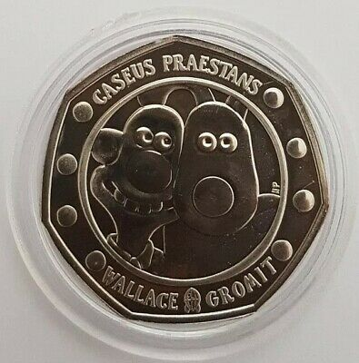 2019  Wallace and Gromit Fifty Pence 50p Coin Brilliant Uncirculated BUNC BU UK