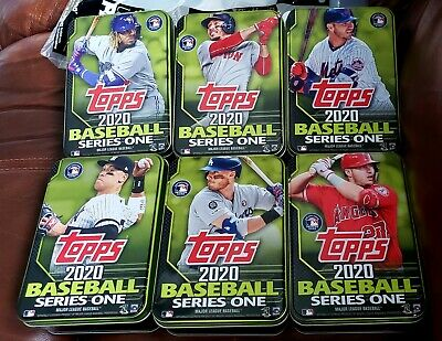 2020 Topps Series 1 Tins Complete Set (6) - Trout,  Judge,  Alonso,  Guererro!!!