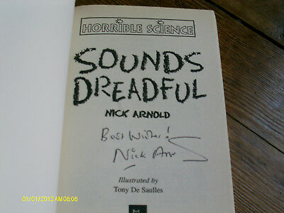 Sounds Dreadful by Nick Arnold (Paperback, 1998) Signed