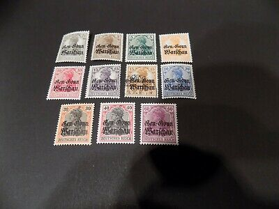 1916 German Occupation Of Poland German Stamps In Very Rare Mnh  / 1 Used