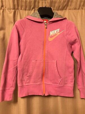 Girls Nike Pink Hoodie. Size Med, Age 10-12. Good Condition