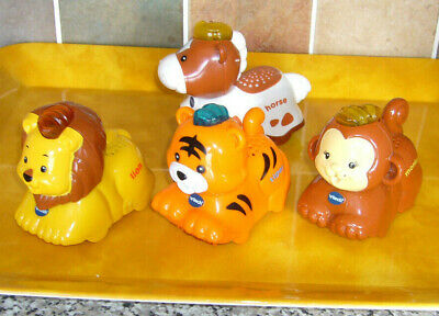Vtech Toot Toot Drivers toys bundle 3 vehicles animals Tiger Lion Horse
