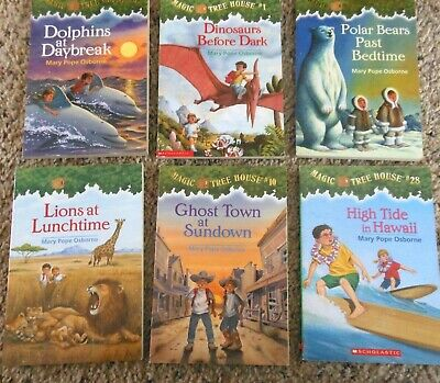 Magic Tree House Lot of 6 Mary Pope Osbourne Series Kids Books Set Random House
