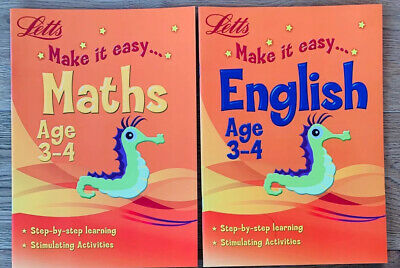 New Letts Home Learning Maths English Workbooks Children Ages 3-5 KS1 Reception
