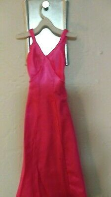 Vintage Barbie Doll clothes hot pink long dress gown slip special occasion date
