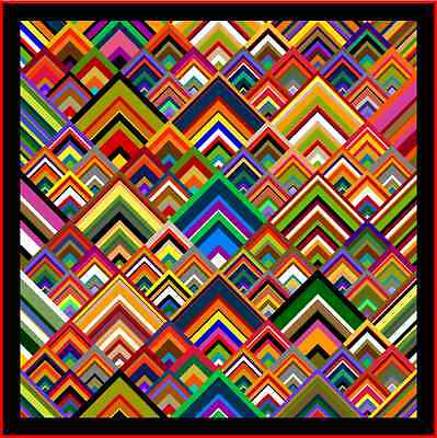 """PINNACLES - 75""""- Pre-cut Quilt Kit by Quilt-Addicts Double."""