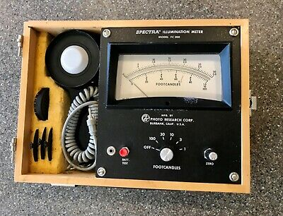 SPECTRA ILLUMINATION METER - Model F 200  with  Accessories