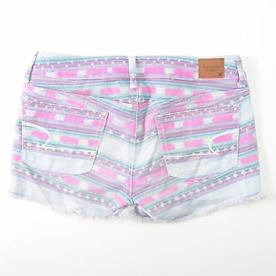 American Eagle Native Indian Aztec Navajo Tribal Shorts Booty Stretch Womens 2
