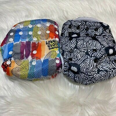 Bum Genius All In One Cloth Diapers Lot Of 2 Adjustable