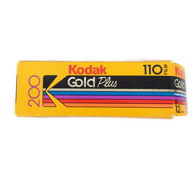 Kodak Gold Plus 110 Film Color 200 Speed 12 Exposures Expired 02/1994 Open Box