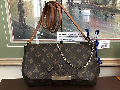 ❤ Favorite MM ❤Monogram❤Louis Vuitton M40718 Crossbody Handbag Clutch 100% Auth
