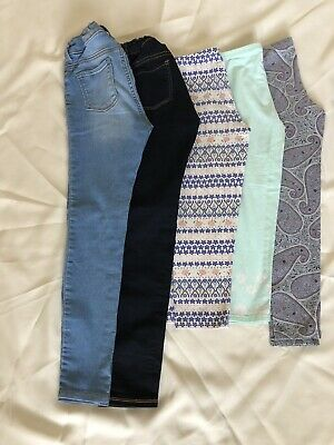 Lot of 5 Girls Old Navy Pants / 2 Jeggins & 3 Leggins / Sz 10 / GUC See Pics