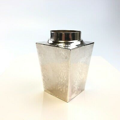 Antique The Merrill Shops Hand Hammered Sterling Silver Tea Caddy 127.4g No Lid