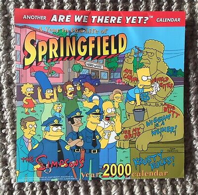 THE SIMPSONS 'A Year In The Life Of Springfield' 2000 Calendar EUC