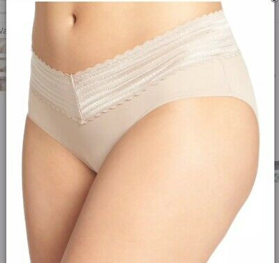 Warners The Lace Hipsters No Pinching Panties  2 Pair Women's sz Large