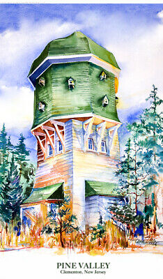 Pine Valley Halfway House Limited Edition Golf Art Print Signed by artist