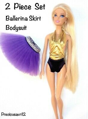 New Barbie doll clothes 2 piece set outfit ballerina skirt bodysuit clothing