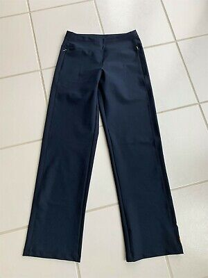 Lucy Everyday Pant Blue Full Length Wide Leg Womens S NWOT MINT