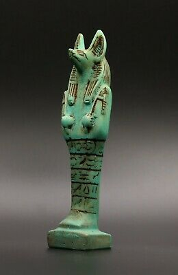 Ancient Egyptian Anubis Egypt Antiques Dog Statue Green Stone New Kingdom Bc