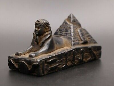 Ancient Egypt Statue Antiques Egyptian Sphinx The Pyramid Carved Stone Bc