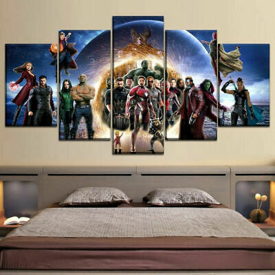 Marvel Avengers Infinity War Movies Characters Canvas Print Painting Wall Art 5P