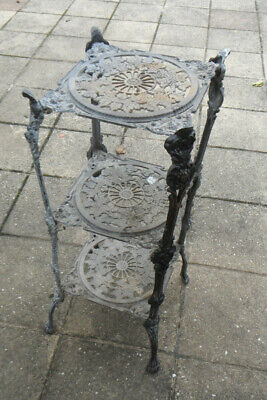 Roman Style Brass Plant Stand - 3 Tier