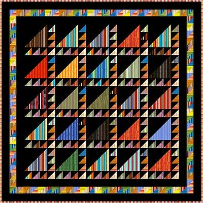 """ARABIAN NIGHTS - 78.5"""" - Quilt-Addicts Precut Patchwork Quilt Kit Double.."""