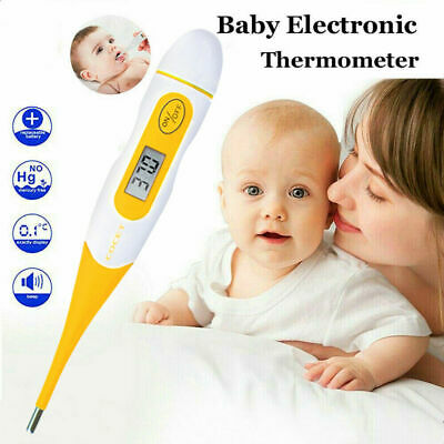 Digital LCD Thermometer Baby Adults Body Safe Ear Mouth Temperature Fever Alarm
