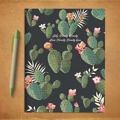 July 2020 - June 2021 Cacti Colors Medium Monthly Planner