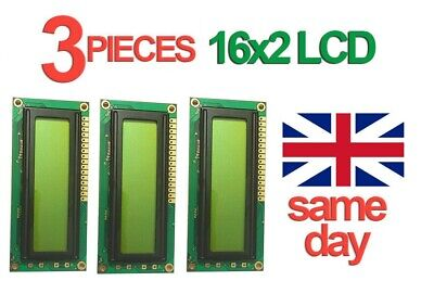 3pk 16x2 LCD Display Non-Backlit 1602 for Arduino Raspberry Pi New Sealed