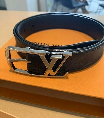 Authentic Louis Vuitton Ceinture Neogram 30MM Damier Graphite M9213 Belt 80/32