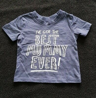Boys Best Mummy Ever Blue Tshirt Age 3-6 Months