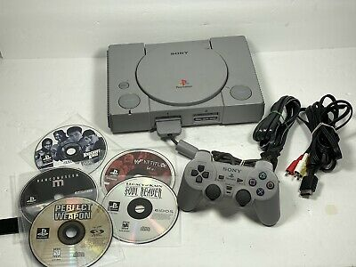 Playstation 1 PS1 Console System Bundle w/ 5 Games #1 - FAST SHIP!