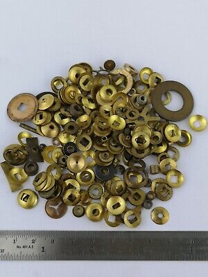 Lot of Vintage Brass Clock Washers for a Clockmaker - Spare Parts (9d)