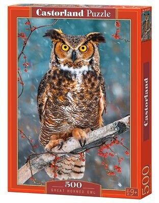CSB52387 - Castorland Jigsaw 500 pc - Great Horned Owl