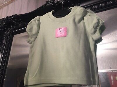 Baby Girls Babyworks Green Top Age 3-6 Months