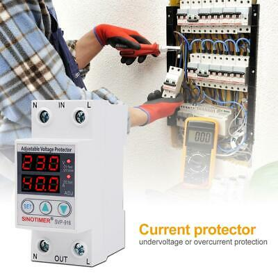 Under Over Limit Current AC Voltage Surge Protector Relay 40A/63A 230V 50/60Hz