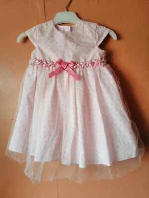 *** George At Asda Pink Girls Dress. Age 6-9 Months**