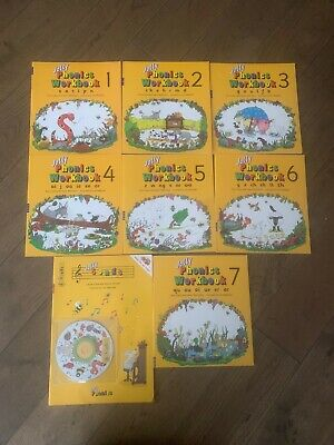 Jolly phonics Workbooks + Song Book CD Bundle
