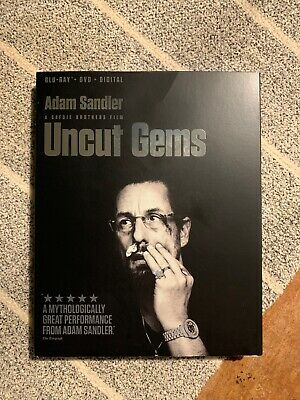 Uncut Gems (Blu-ray and DVD, 2020) Slip Cover- No Digital. Open But New!