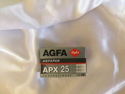Agfa Agfapan APX 25 - 135 35mm film 1 Roll sealed stored in cool expired 7/2005