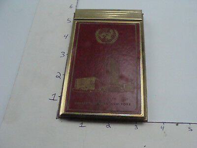 original 1961 UNITED NATIONS New York covered pad -- cool
