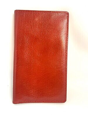Antique Calf Leather Billfold Pocket Day-Timer Senior Size Made in Canada