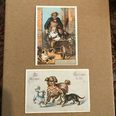 victorian trade cards With Dogs