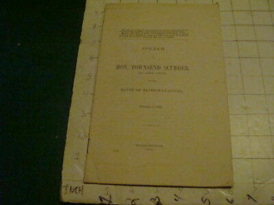 Vintage Original: SPEECH of HON. TOWNSEND SCUDDER of NY FEB 8, 1905 - 15pgs