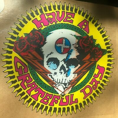 "3"" Guitar Music Skull Rock Roll Jam Band Blue Red Roses Dead Cool Sticker"