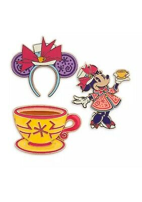 Minnie Mouse The Main Attraction Pin Set Mad Tea Party – March Limited IN HAND