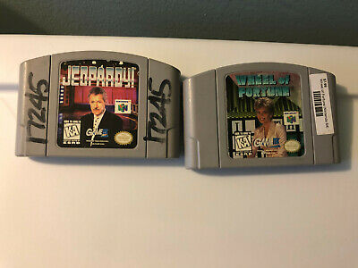 WHEEL OF FORTUNE & JEOPARDY (Nintendo 64, 1997) -- 2 Games for N64